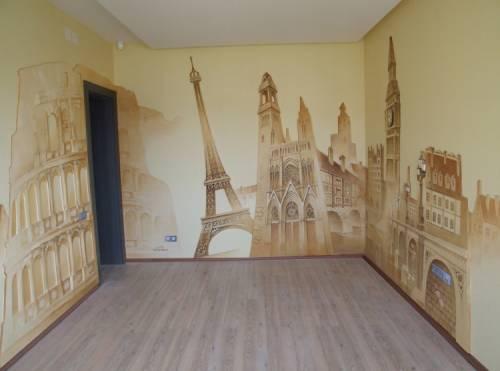 художественная ручная роспись стен