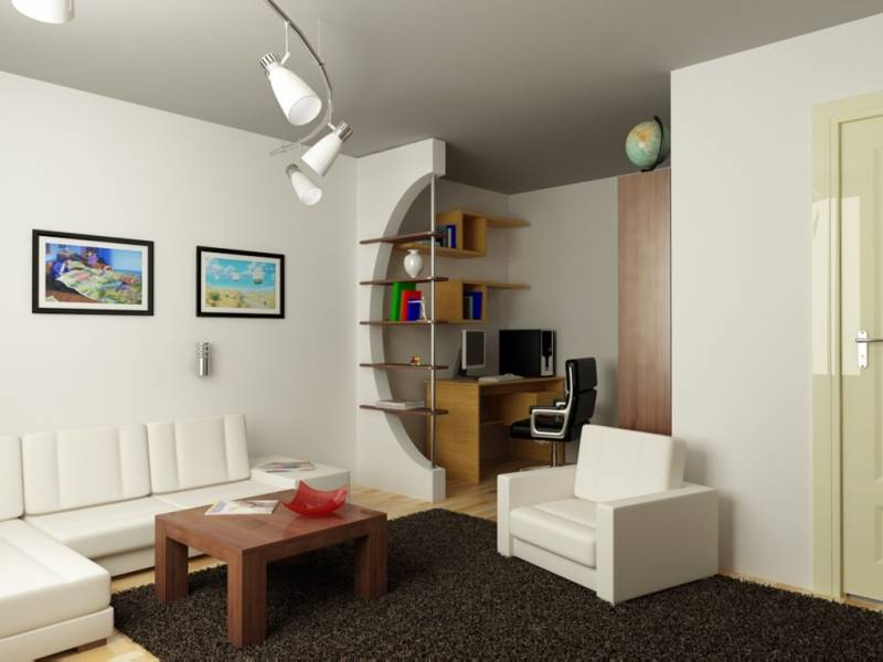 Оформление интерьера в однокомнатной квартире