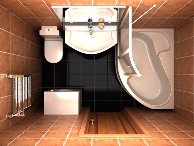 Планировка ванной комнаты 2х2
