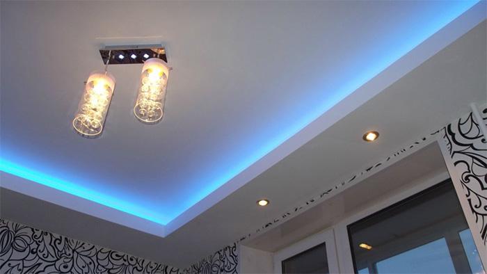 Светодиодная подсветка для потолка из гипсокартона