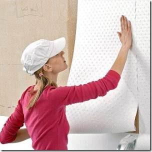 как поклеить обои на покрашенные стены