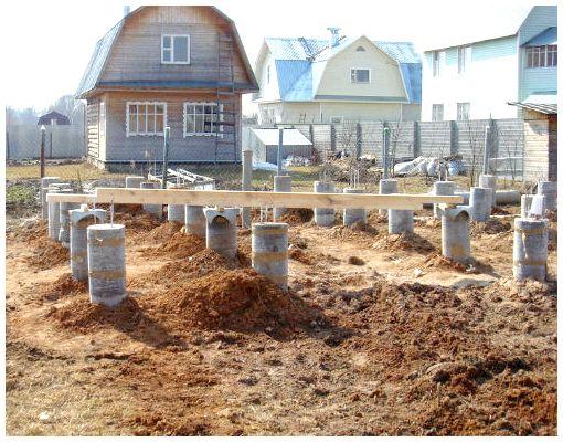 Как построить столбчатый фундамент своими руками