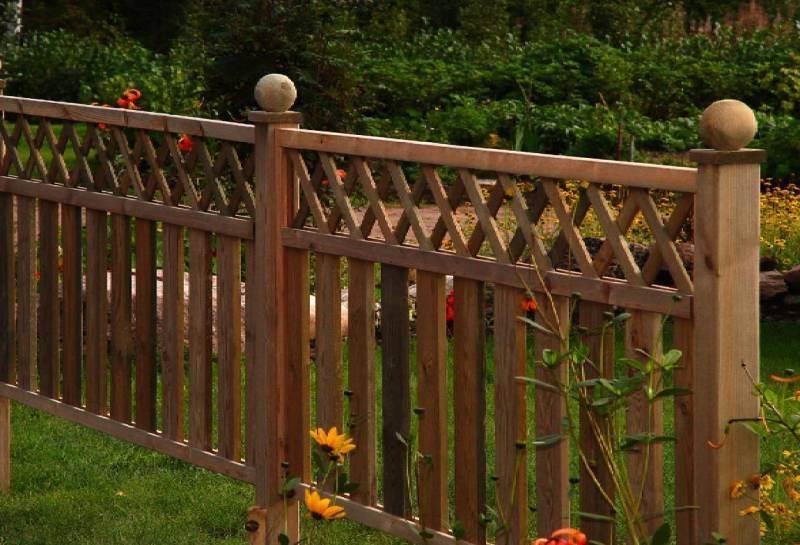 Забор из штакетника своими руками декоративный