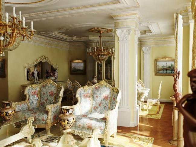 барокко для гостевой комнаты