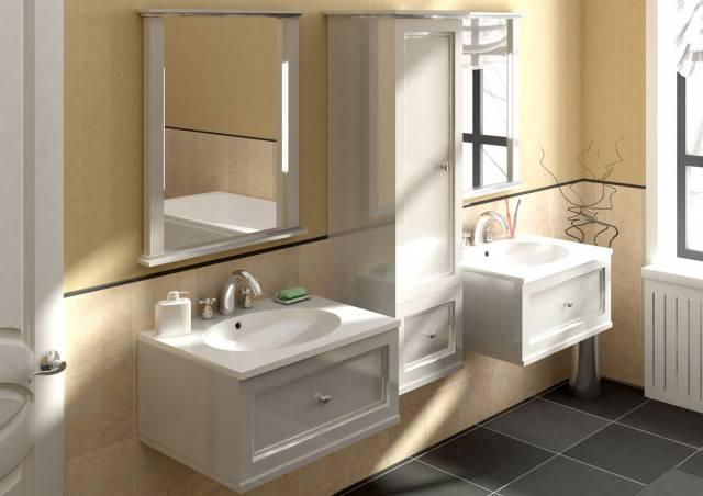 підвісні меблі у ванній