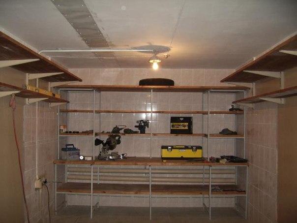 Как сделать полки в гараж