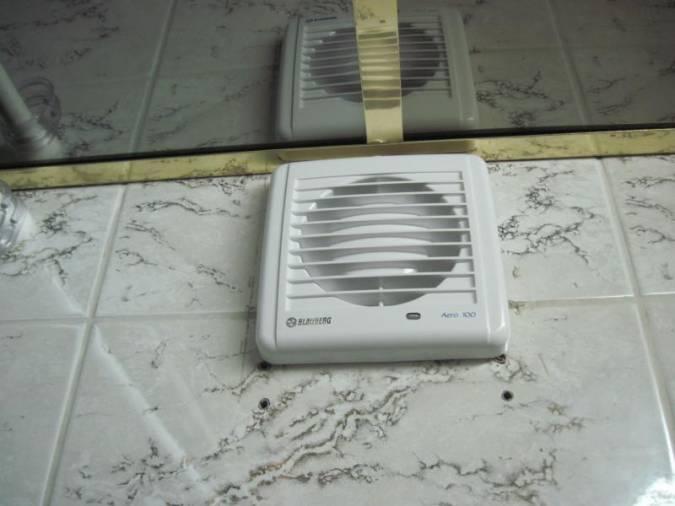 Принудительная вентиляция с применением лопастных вентиляторов дачного дома