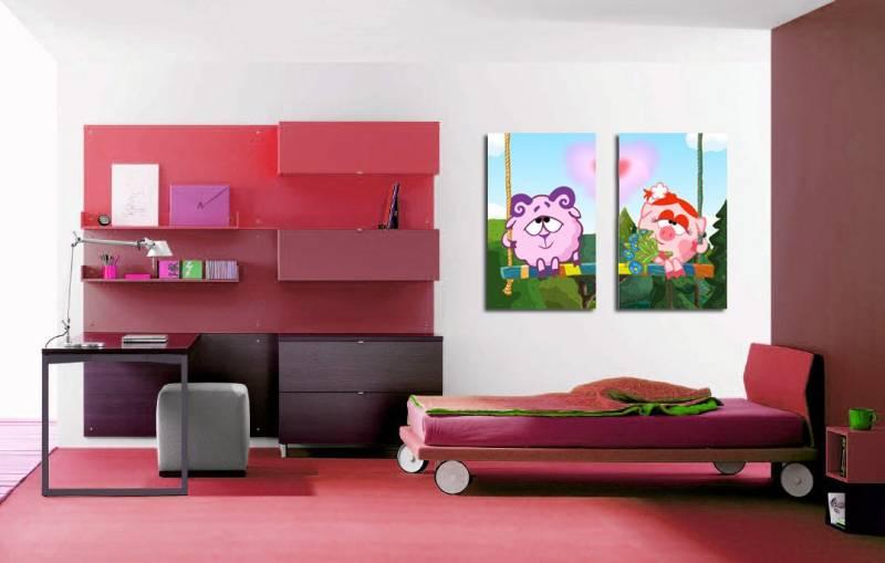 модульная картина в детской комнате