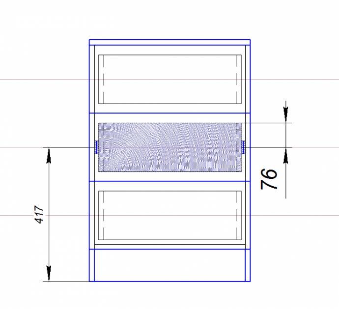Схема разметки для крепления шариковых направляющих