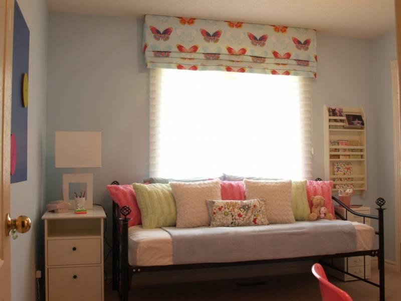 римские шторы в детскую комнату для девочки