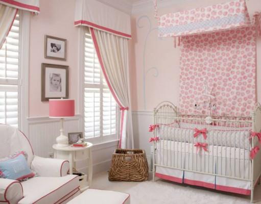 Идеи дизайна штор в детскую комнату для девочки