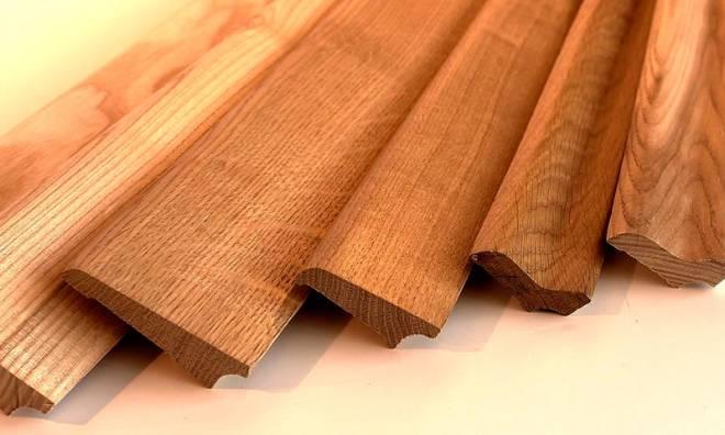 Форма деревянного плинтуса
