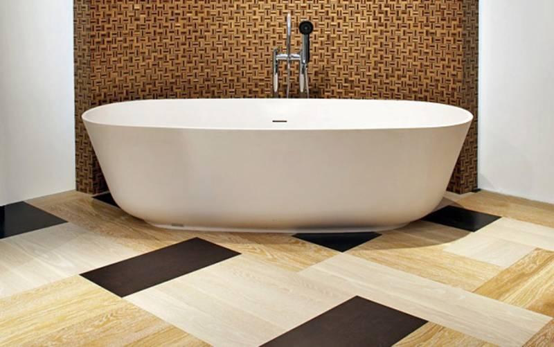 Дизайн напольной плитки в ванной