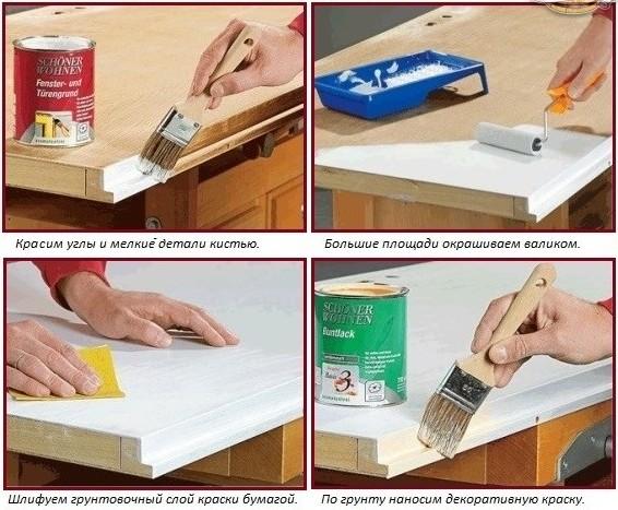 последовательность покраски деревянных поверхностей