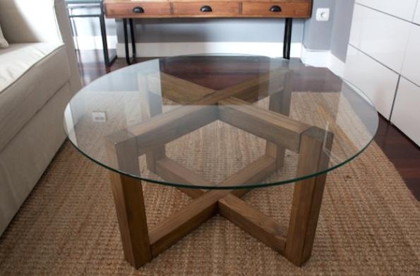 журнальный столик своими руками из стекла и древесины