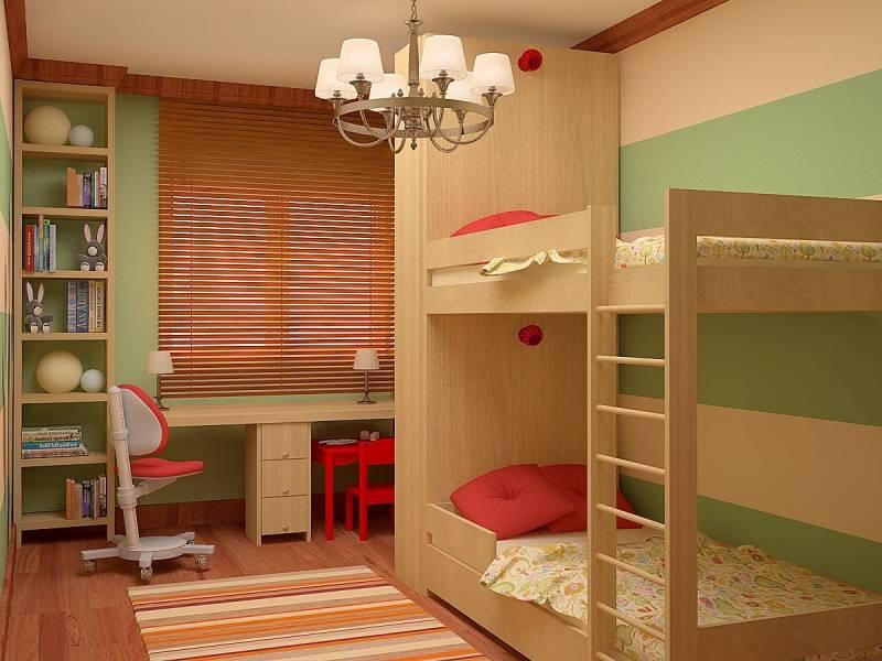Обустройство интерьера детской комнаты для двоих детей