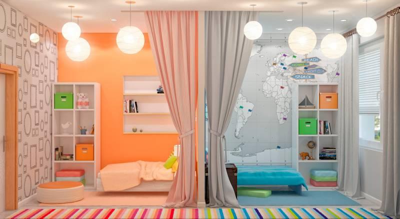 Спальная зона для разнополых детей