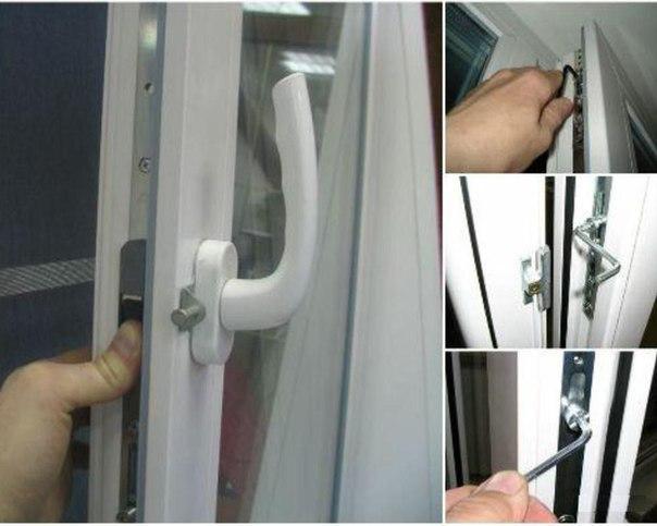 регулировка оконных створок на пластиковом окне