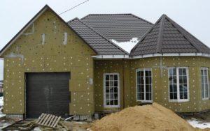 Отделка фасада дома сайдинг кирпич