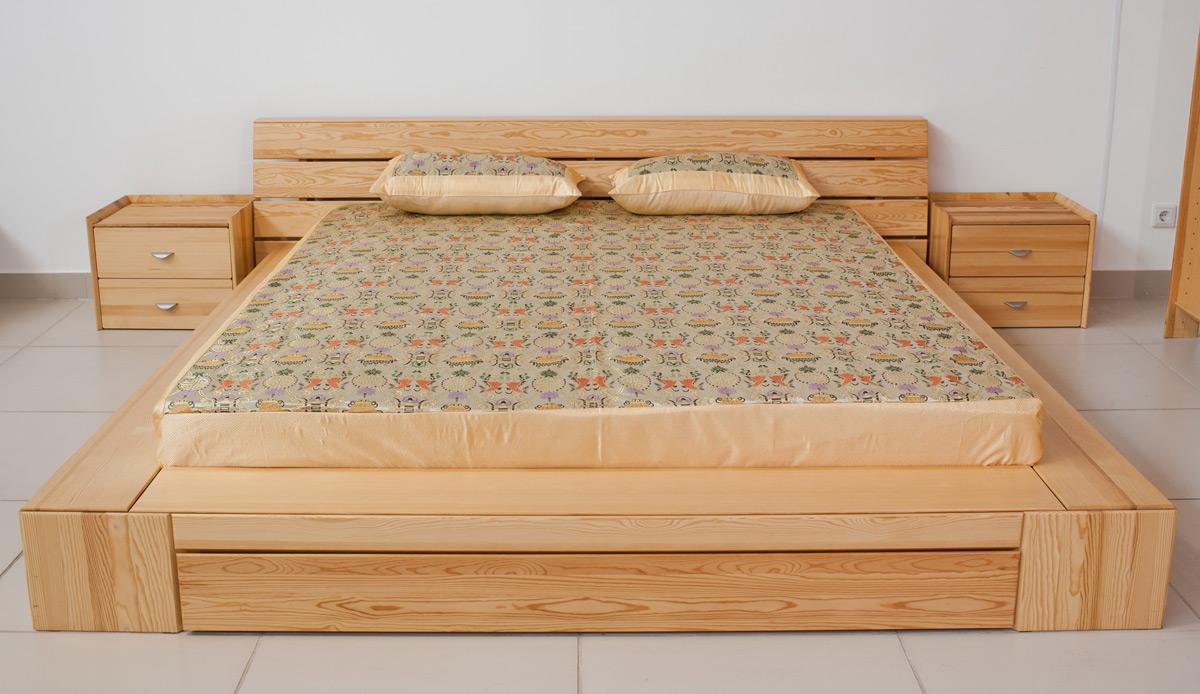 Как сделать кровать из сосны