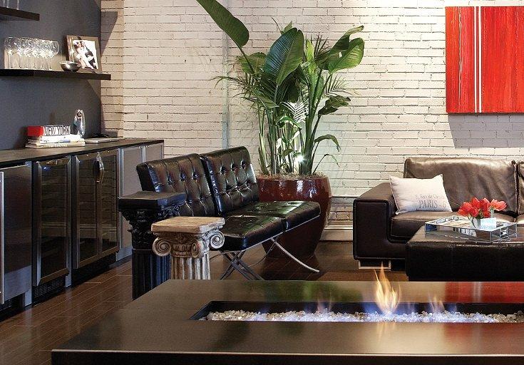 Сочетание мебели в стиле лофт