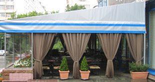 Шатровые покрытия и завесы для летнего кафе
