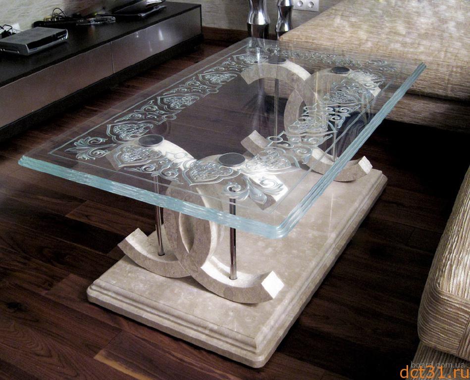 Столы, выполненные из стекла