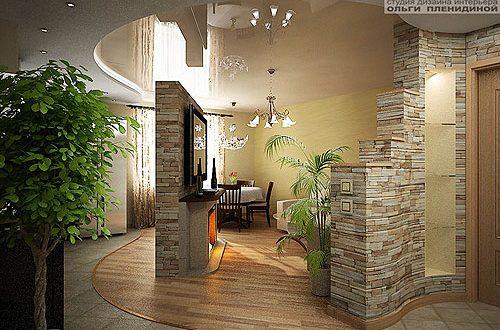Применение искусственного камня в объектах интерьера