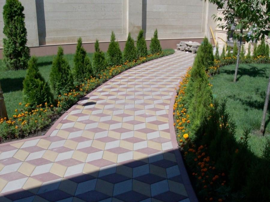 Ландшафтный дизайн - тротуарная плитка