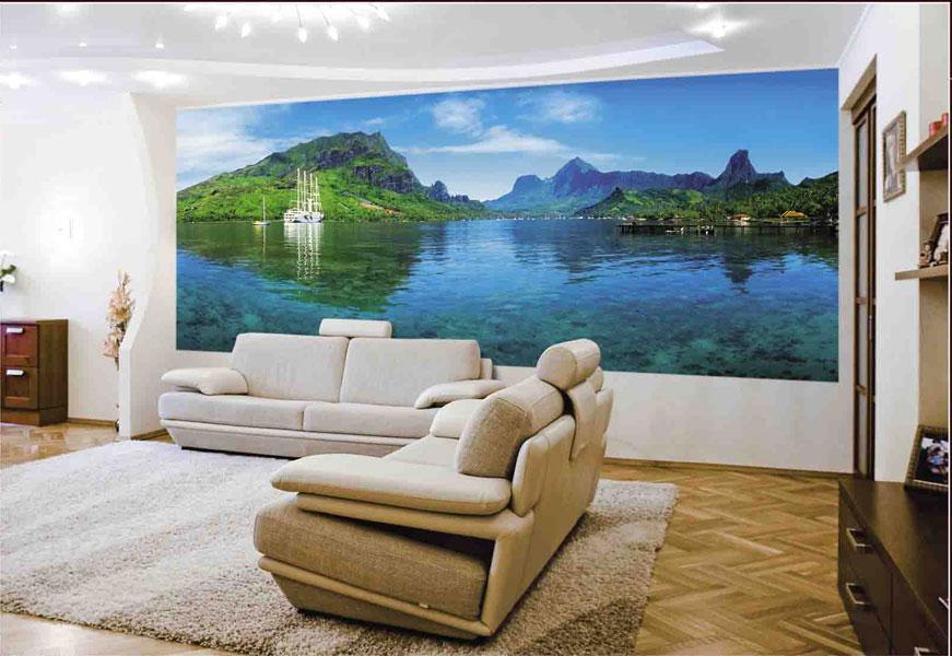 Фотообои в гостиную – возможности декора