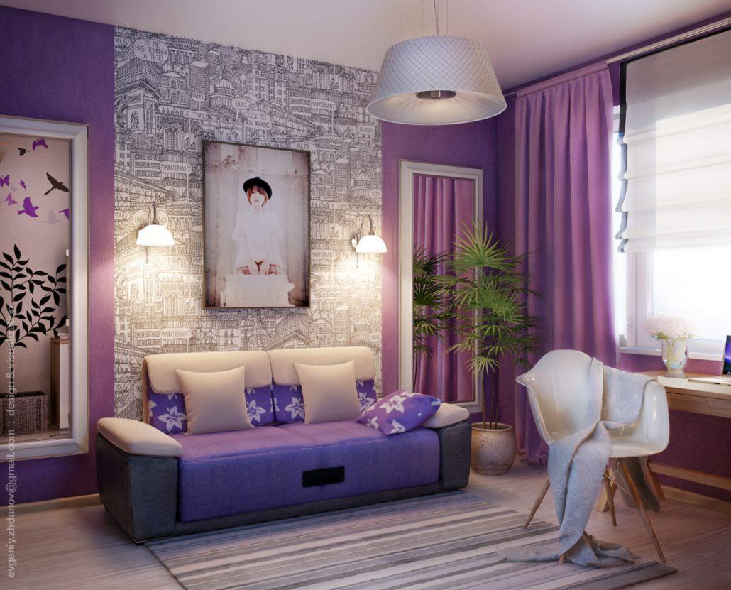 Дизайн интерьера спальни для девушки