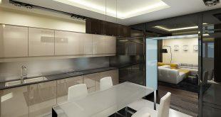Интерьер квартиры в стиле хай-тек