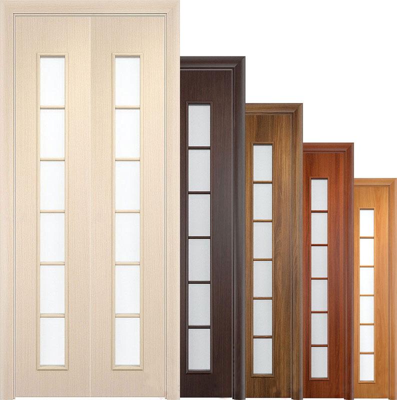Складные ламинированные двери