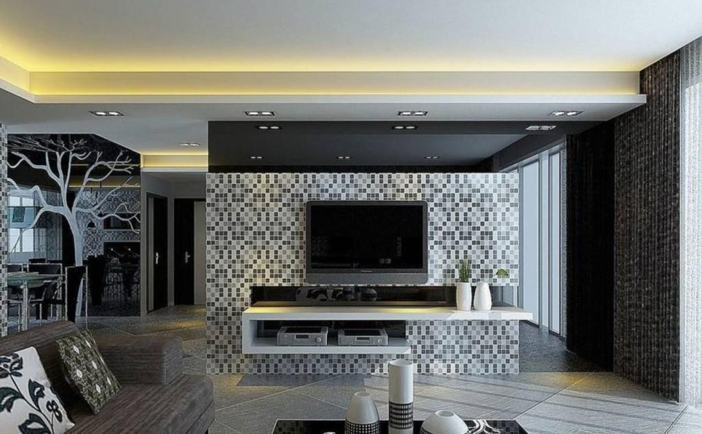 Мозаика в интерьере помещения