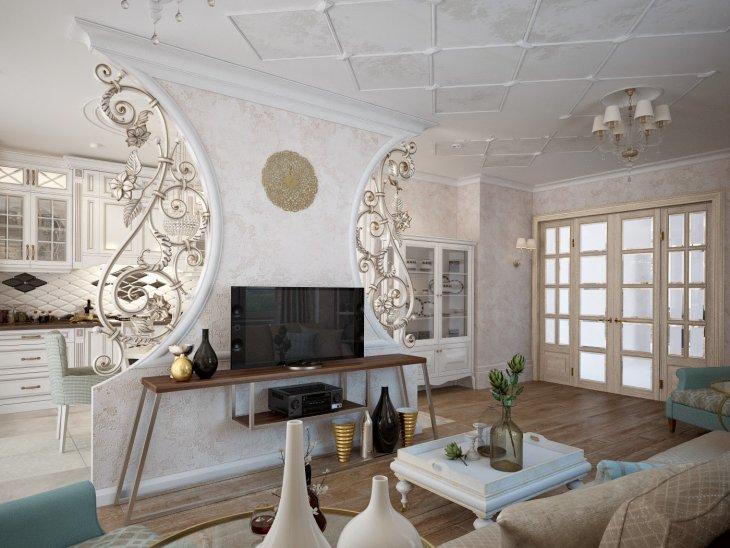Кованые изделия и интерьер гостиной