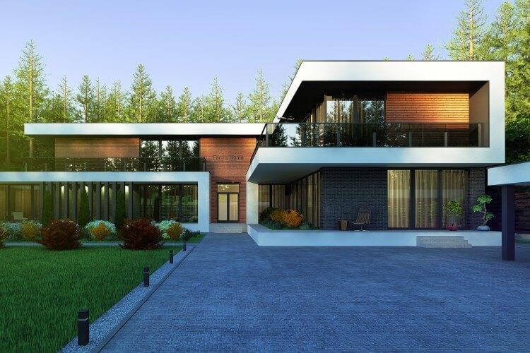 Архитектурный стиль загородного дома