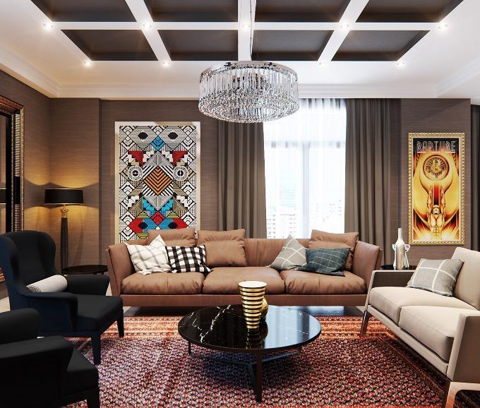 Современная гостиная - элементы интерьера