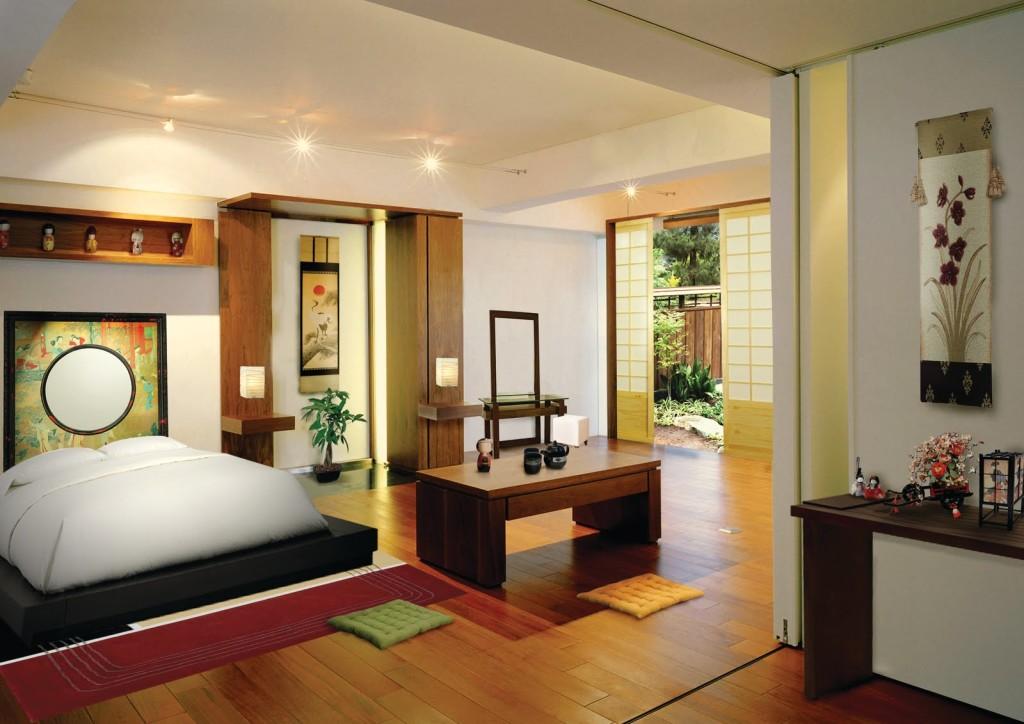 Спальня в стиле фен шуй