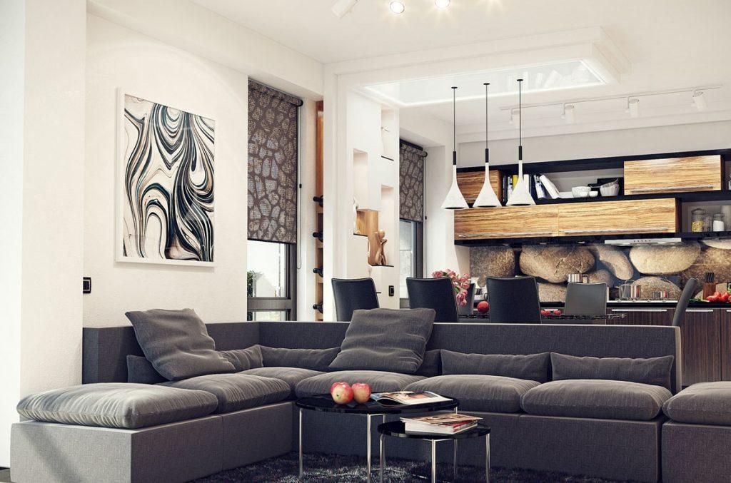 Дизайн кухни-гостиной: какой выбрать стиль