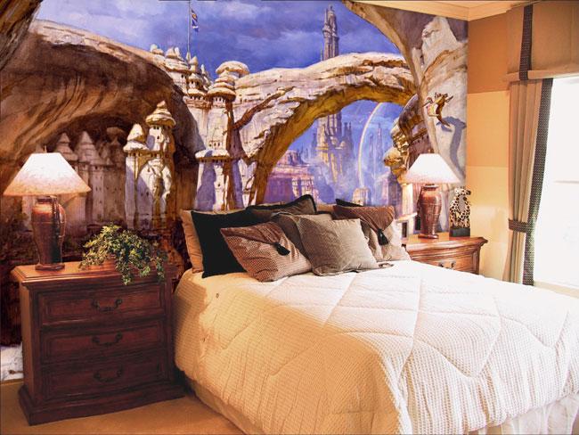 Живопись в дизайне спальни
