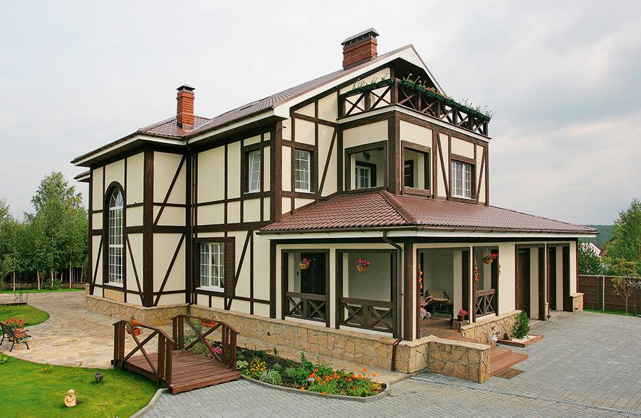 Дом с интерьером в немецком стиле