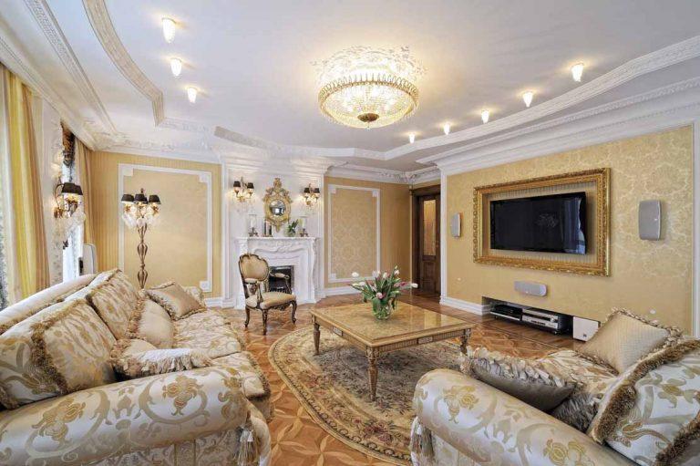 Классический стиль в оформлении дизайн гостиной
