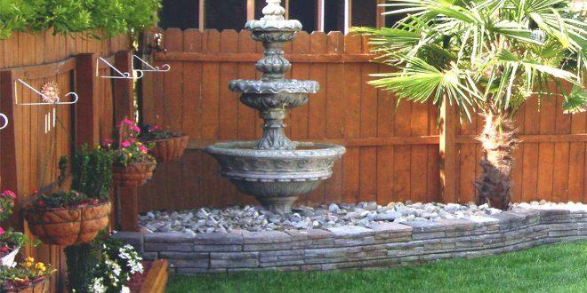 Садовый фонтан, как ухаживать