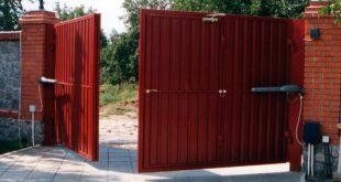 Распашные автоматические ворот с открытием во двор1
